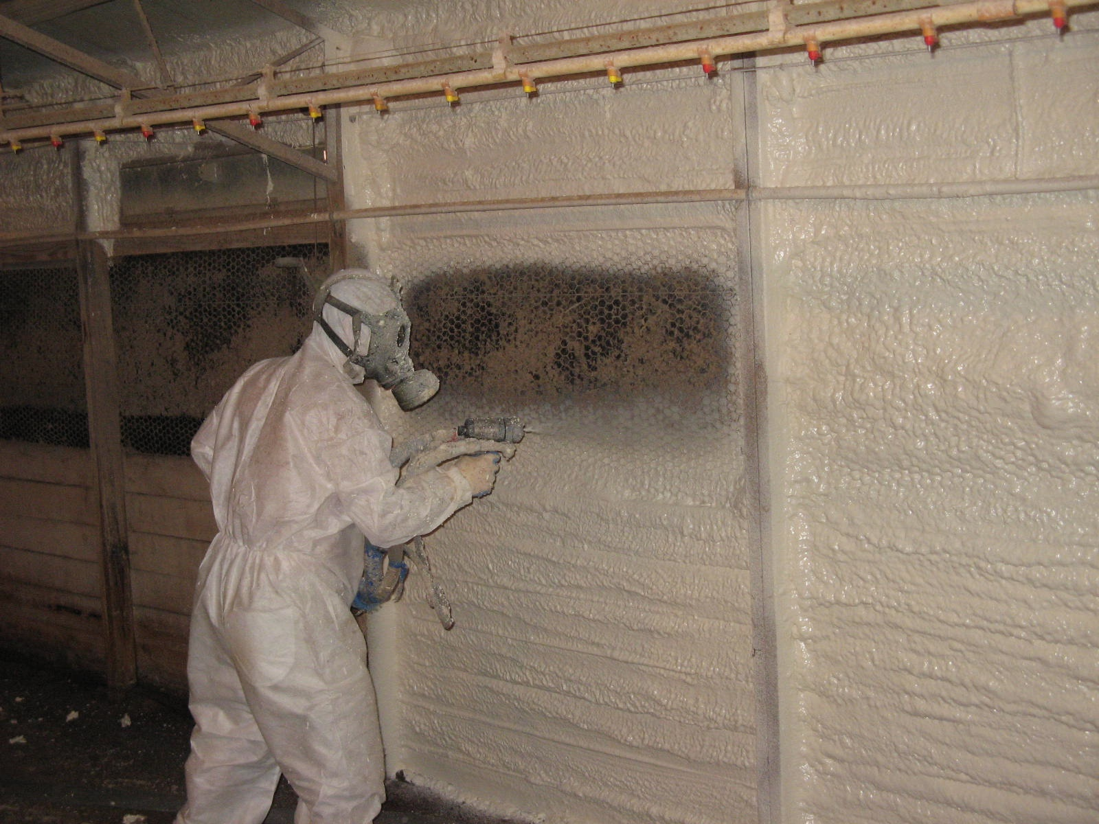 agricultural based spray foam insulation ag sealag seal Broiler House Insulation Poultry House Doors